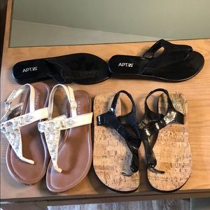 Shoes - Women's sandals black and white